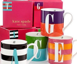 cups, kate spade, and mugs image