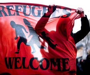 refugees and welcome image