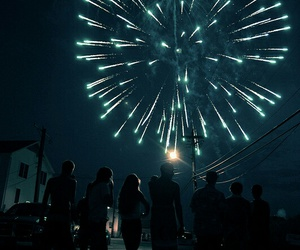 fireworks, night, and friends image