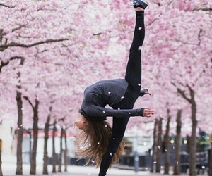 dance, girl, and pink image