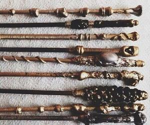 harry potter, wand, and magic image