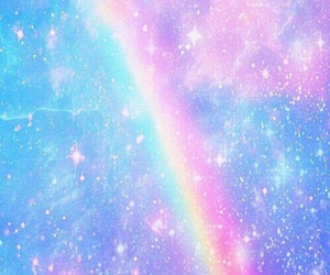 rainbow, galaxy, and wallpaper image