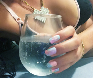 nails, girl, and drink image