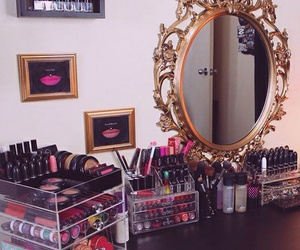 makeup, girl, and mac image