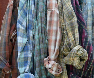 grunge, flannel, and style image