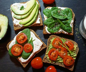 avocado, bread, and food image