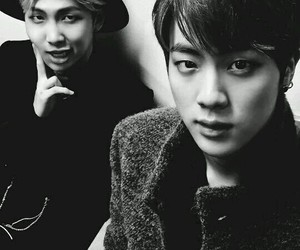 jin, bts, and namjin image