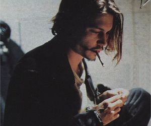 johnny depp, smoke, and cigarette image