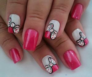 nails, pink, and cute image