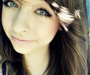 brown hair, eyes, and girl image