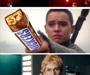 kylo ren, star wars, and snickers image