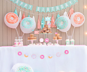 donut, happy birthday, and party image