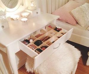 room, makeup, and bedroom image
