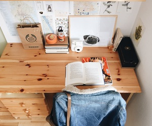 boho, books, and denim image