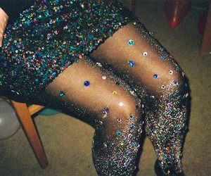 glitter, tights, and legs image