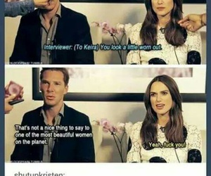 funny, keira knightley, and benedict cumberbatch image