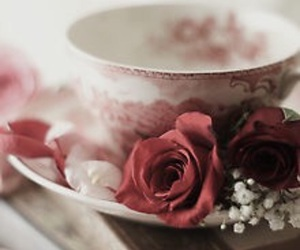 flowers, cup, and vintage image