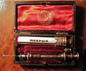 morphine, needle, and morphia image