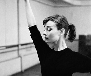audrey hepburn, ballet, and black and white image