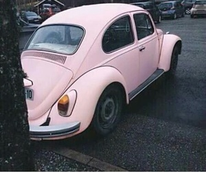 car, classic, and pink image