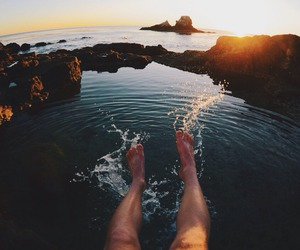 water, beach, and summer image