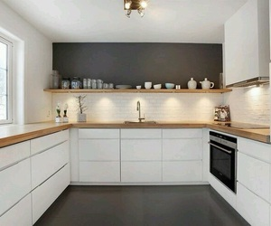 kitchen, grey, and white image