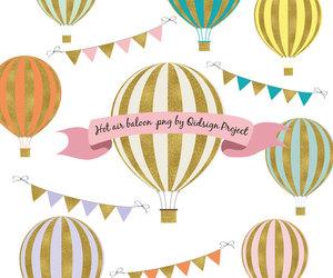 banner, etsy, and hot air balloon image