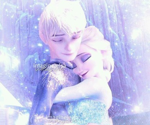 jelsa, jack frost, and disney image