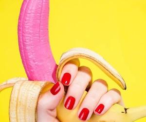 banana, pink, and art image