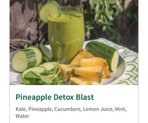 healthy, pineapple, and green juice image