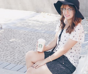 fashion, starbucks, and hipster image