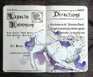 harry potter, expecto patronum, and book image