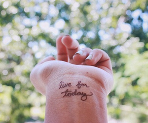 live, tattoo, and quote image