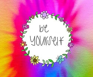 rainbow, wallpaper, and be yourself image