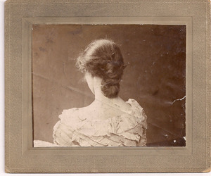 antique, girl, and hair image