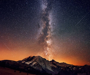 milky way, space, and astronomy image