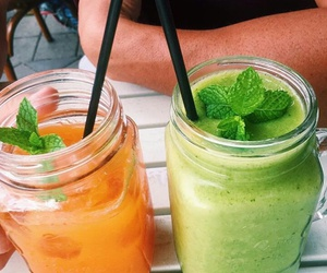 orange, green, and drink image