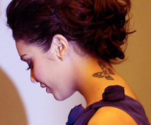 butterfly, vanessa hudgens, and tattoo image