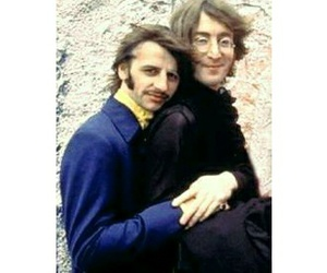 john lennon, ringo starr, and the beatles image