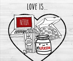 love is, nutella, and pizza image