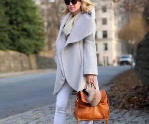 clothes, handbag, and high heels image