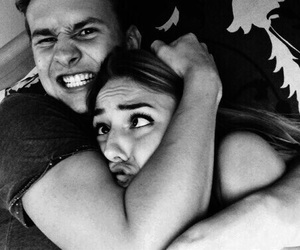 black and white, boyfriend, and friendship image