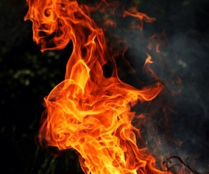 fire, photography, and flame image