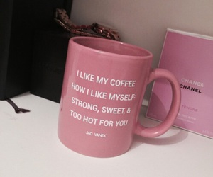 pink, coffee, and quotes image