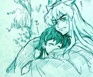 anime, draw, and inuyasha image