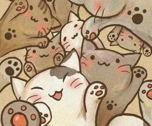 cat, wallpaper, and kawaii image