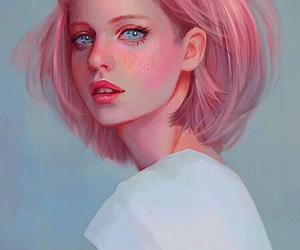 art, pink, and draw image