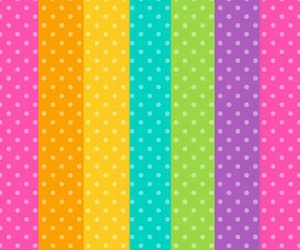 colours, pattern, and polka dots image