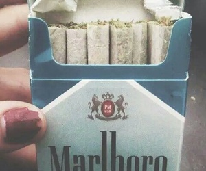 smoke, weed, and marlboro image