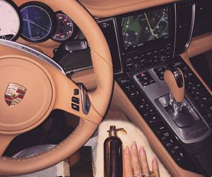 luxury, car, and girl image